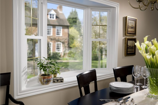 Simonton Double Hung Bay Window
