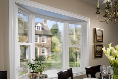 Simonton Vinyl Replacement Double Hung Bay Window