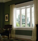 Simonton Vinyl Replacement Bow Window in Bedroom