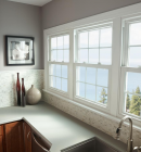 Simonton Double Hung Windows in Kitchen