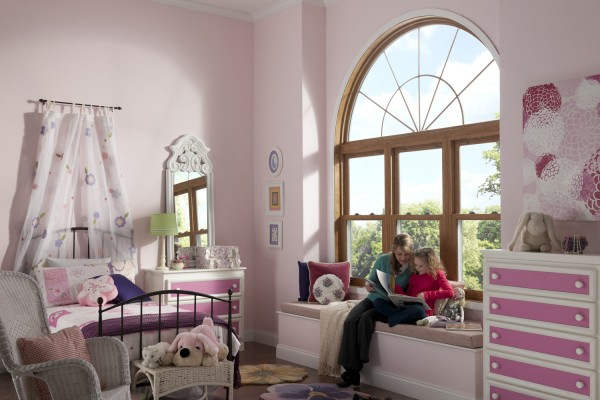 Simonton Geometric Windows in Girl's Bedroom