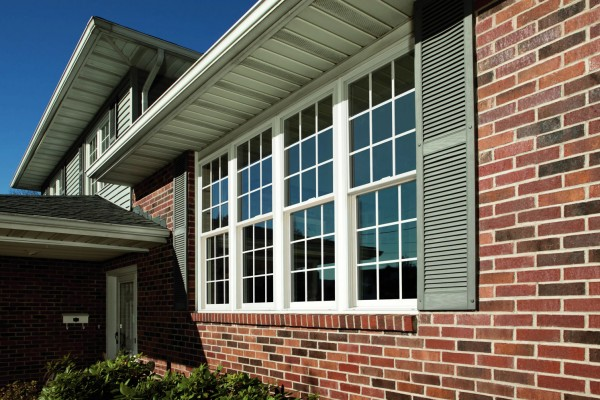 Exterior View of Simonton double hung windows