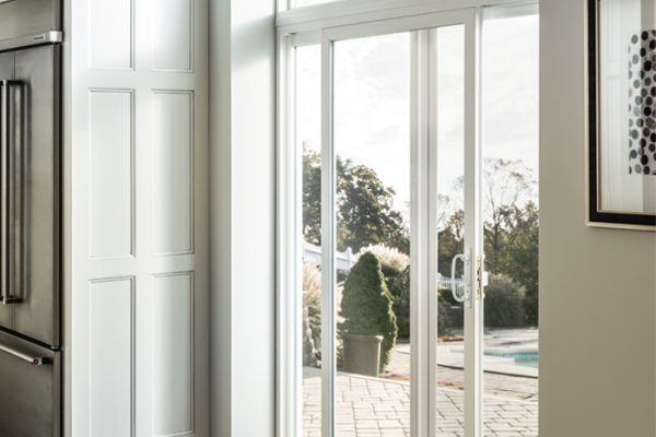 Simonton Sliding Patio Door in white kitchen