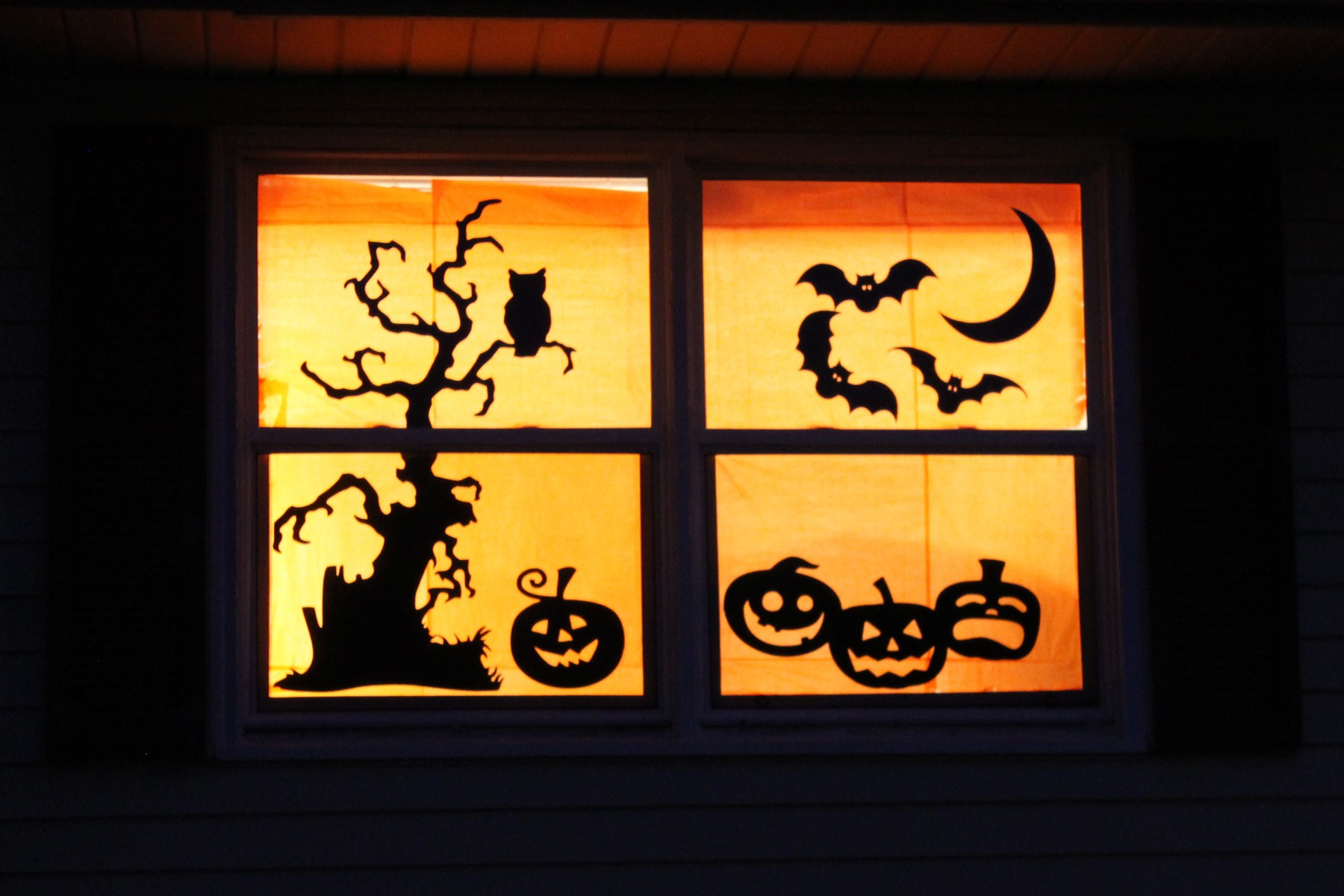 Halloween window decorations - Halloween Windows Decorations For Fall
