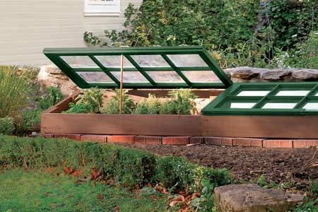 Repurpose Old Wood Windows into a Cold Frame