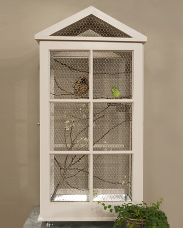 Upcycled Windows Create Birdcage