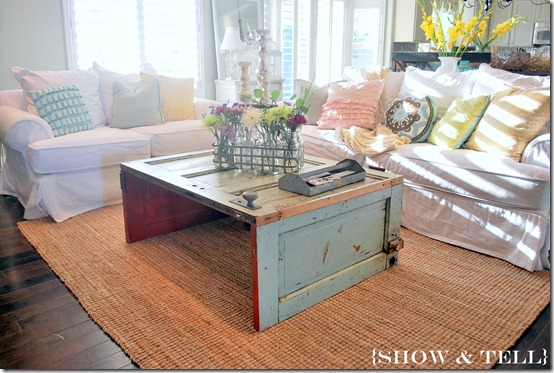 Coffee Table Made from Old Doors