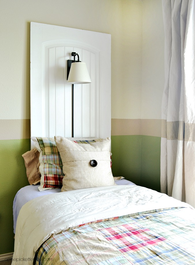How to Repurpose Old Doors into a Headboard