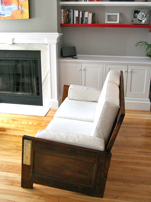 How to make a couch from old doors