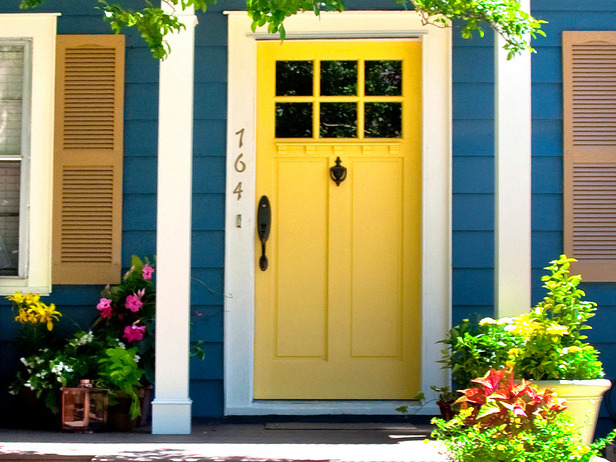 Paint your front door to boost curb appeal.