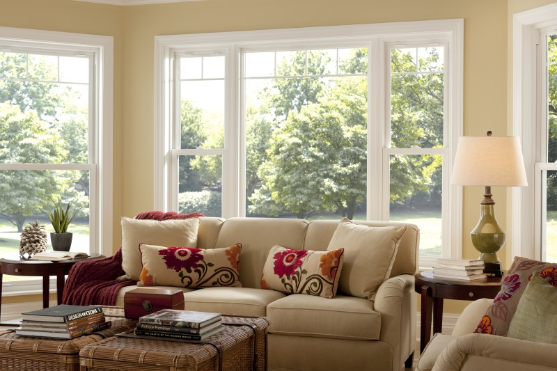Picture Window with Flanking Double Hung Windows