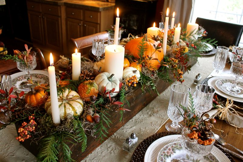 How to decorate a thanksgiving table that will wow for Ideas table decorations thanksgiving dinner