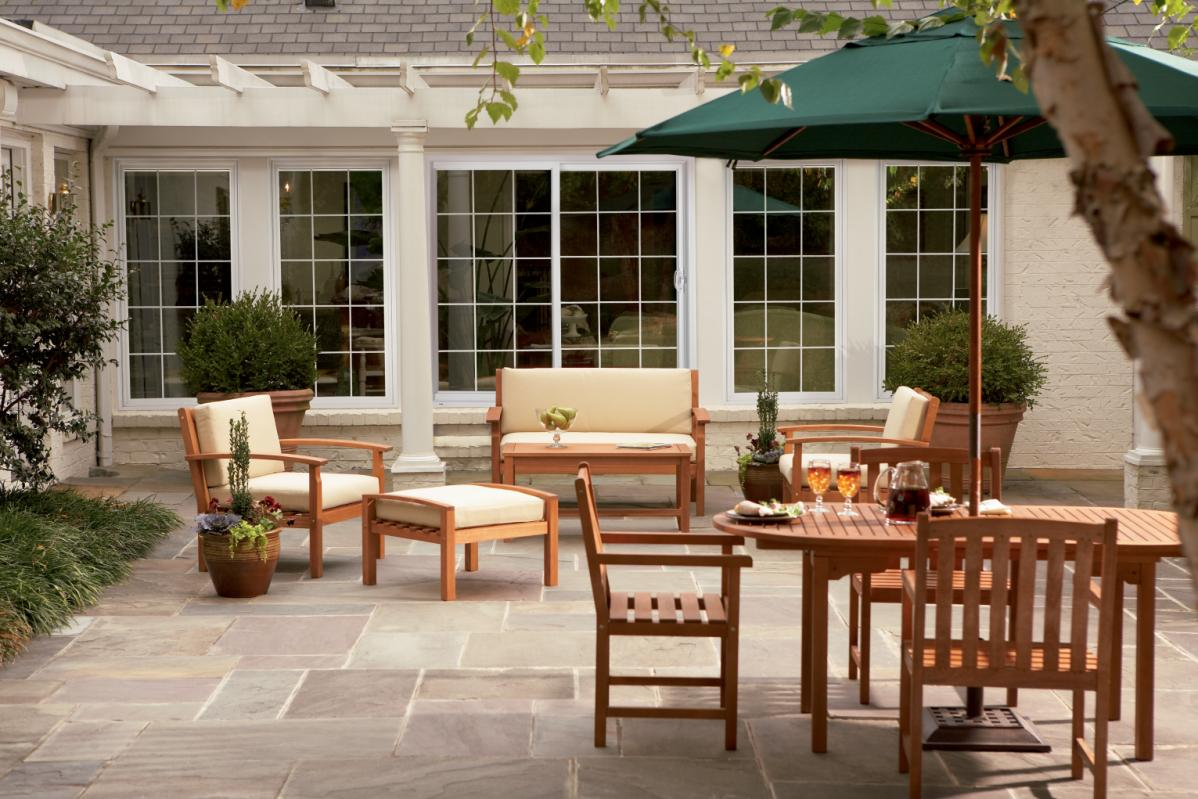 Patio doors offer easy access to your outdoor living space.