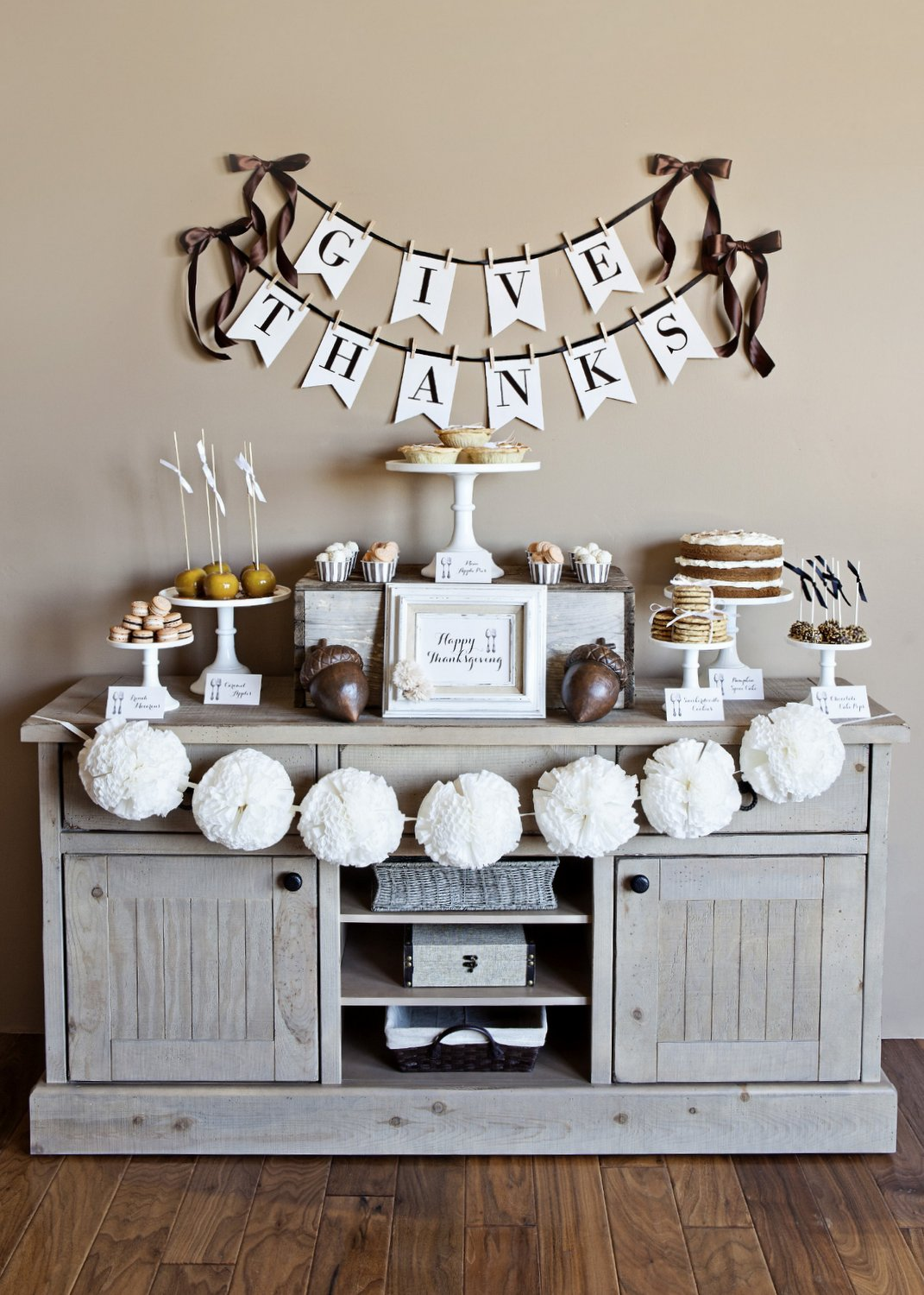 photograph relating to Printable Thanksgiving Banner known as Printable Thanksgiving Decorations for a Homespun Trip