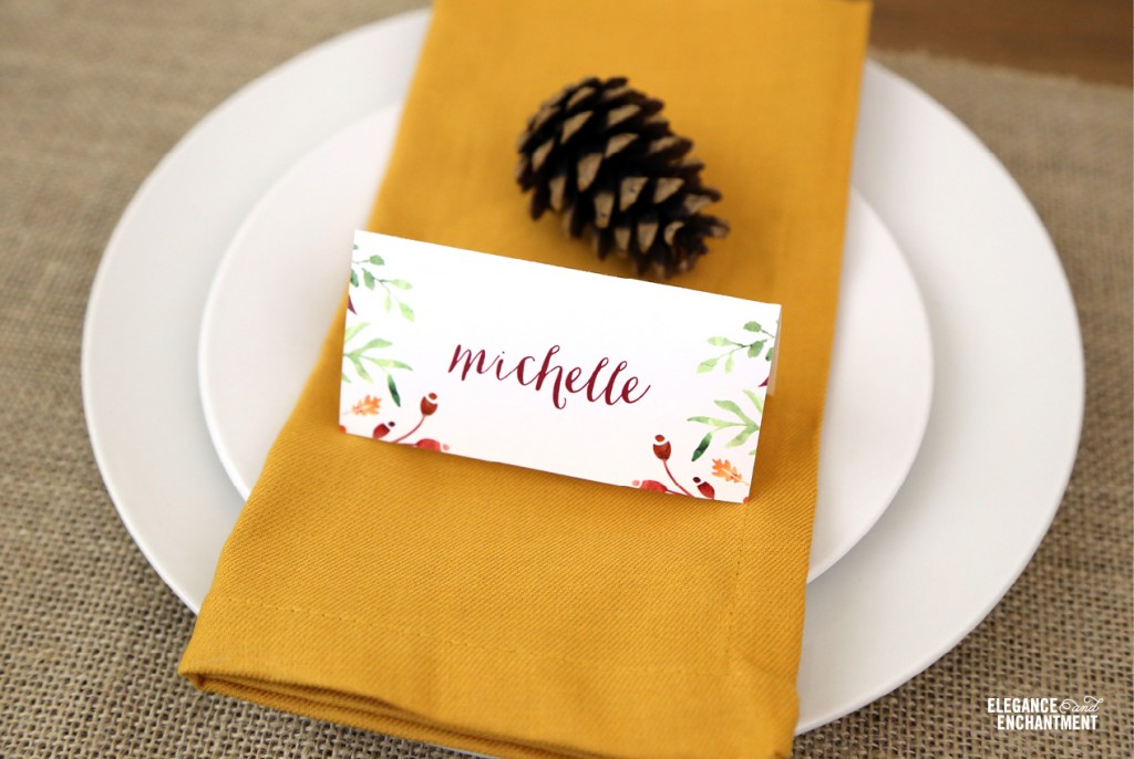 Printable Thanksgiving Decorations Place Cards