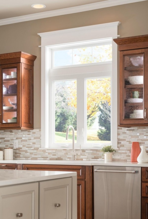 Casement kitchen windows are easy to open and close.
