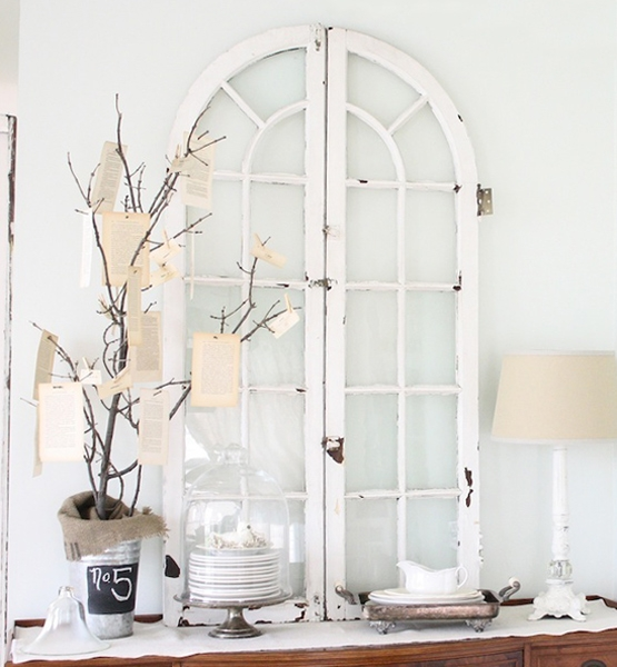 DIY repurpose old windows