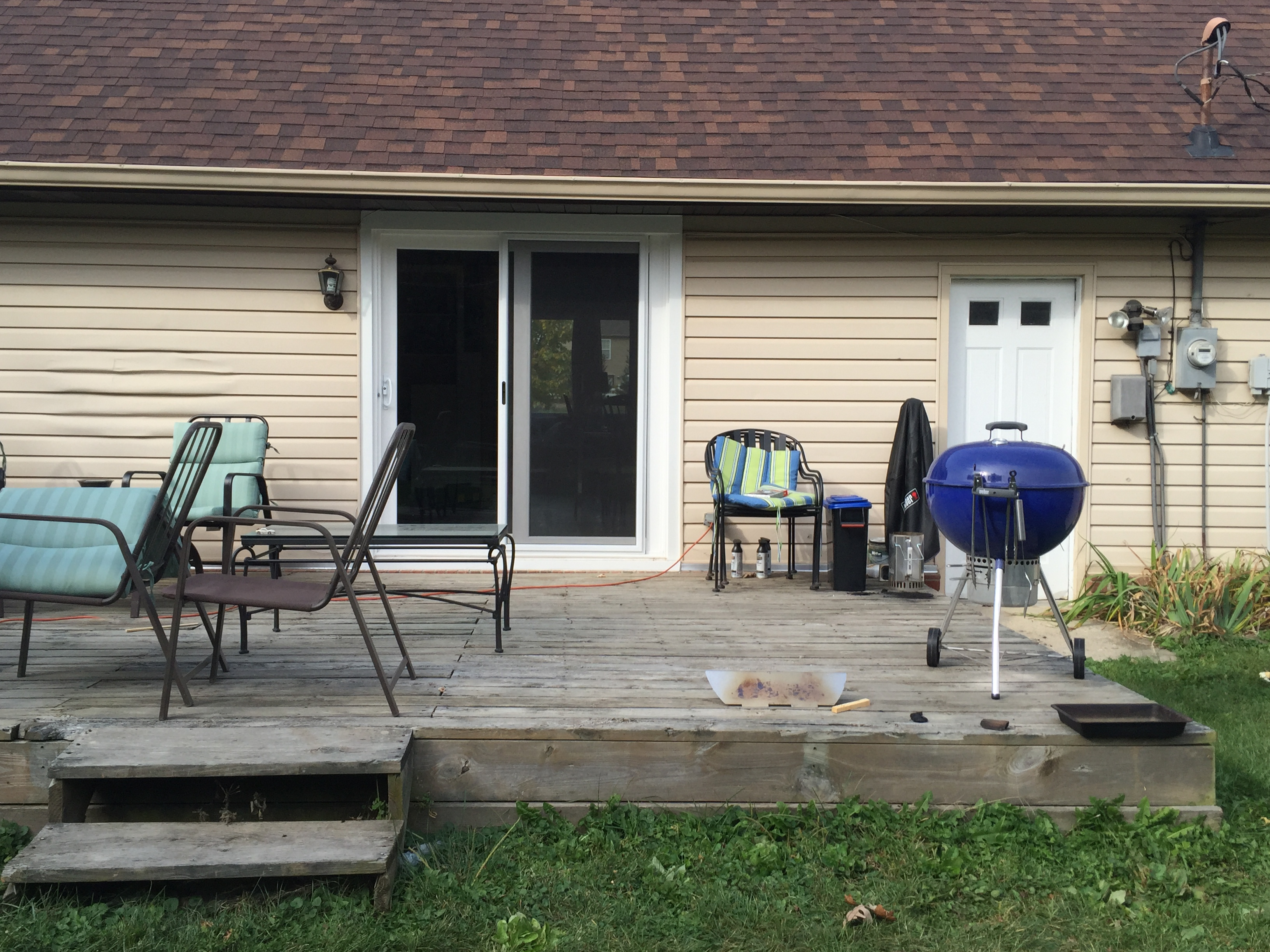 Before And After Indiana Homeowners Patio Transformation