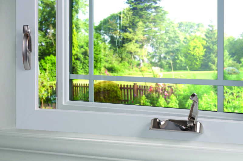 Window hardware can effect vinyl window prices.