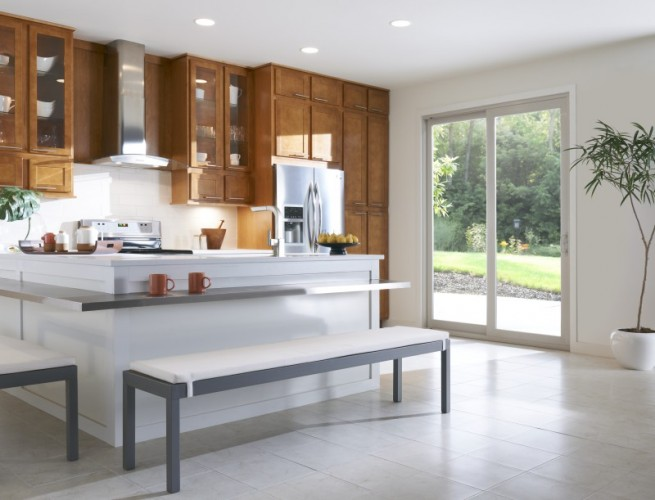 Kitchen Patio Doors Give Access to Outdoor Living Spaces