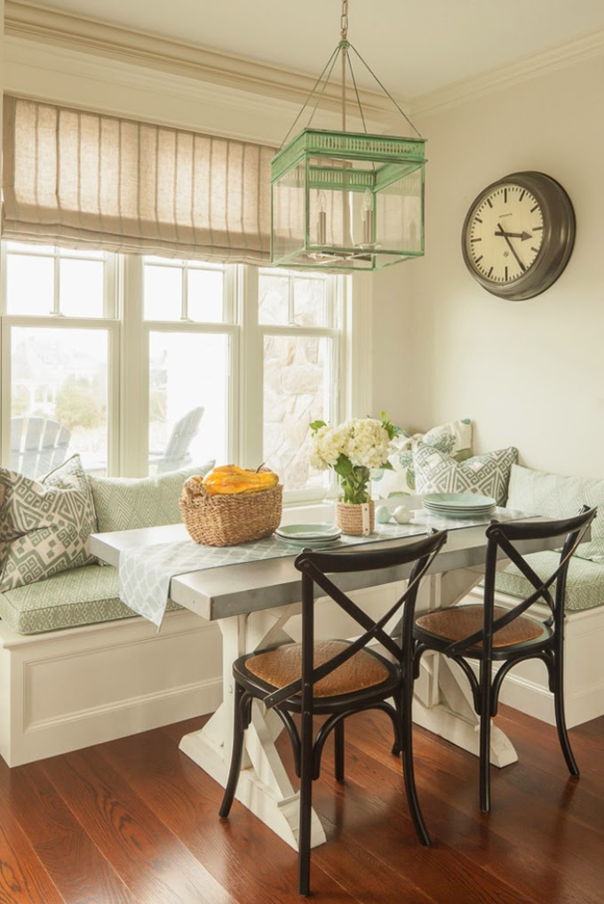 Kitchen Window Seat Adds Style and Function