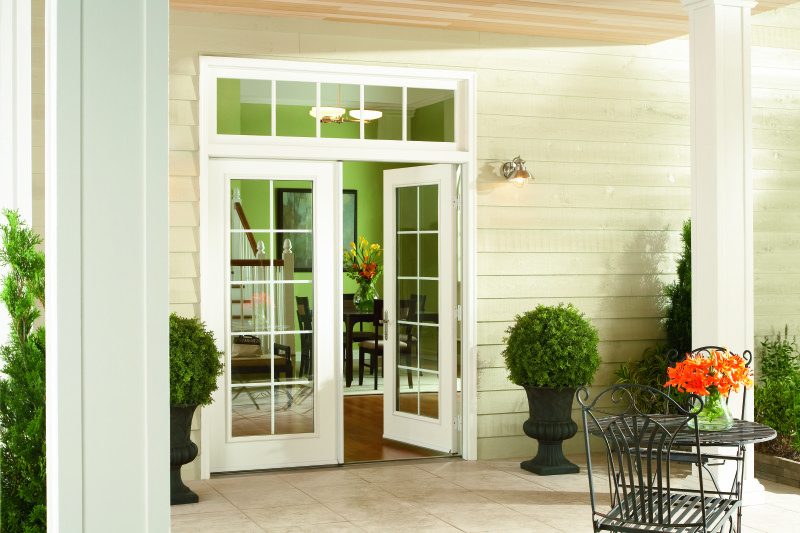 French patio door with traditional grids.