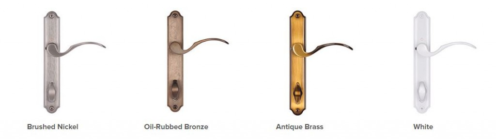 Simonton Windows and Doors' French patio door hardware premium options.