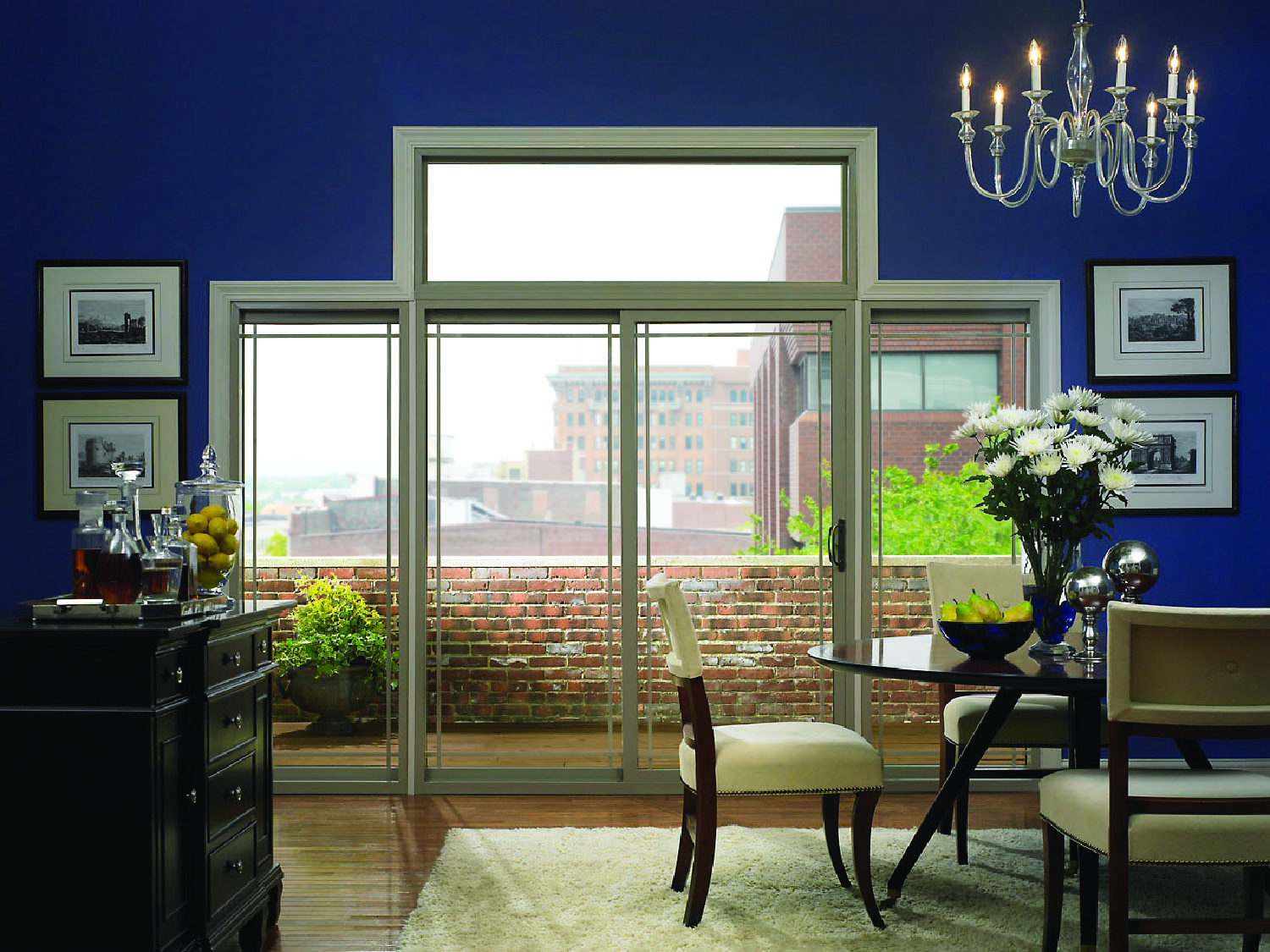 Sliding Patio Doors Use Less Space Than French Patio Doors.