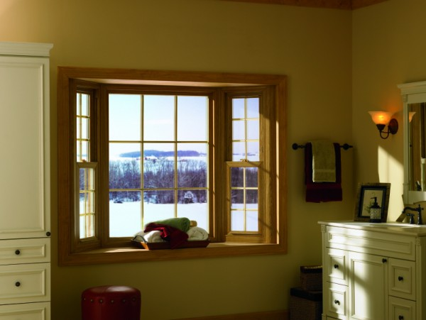 Typically bay windows are smaller than bow windows and have three windows.