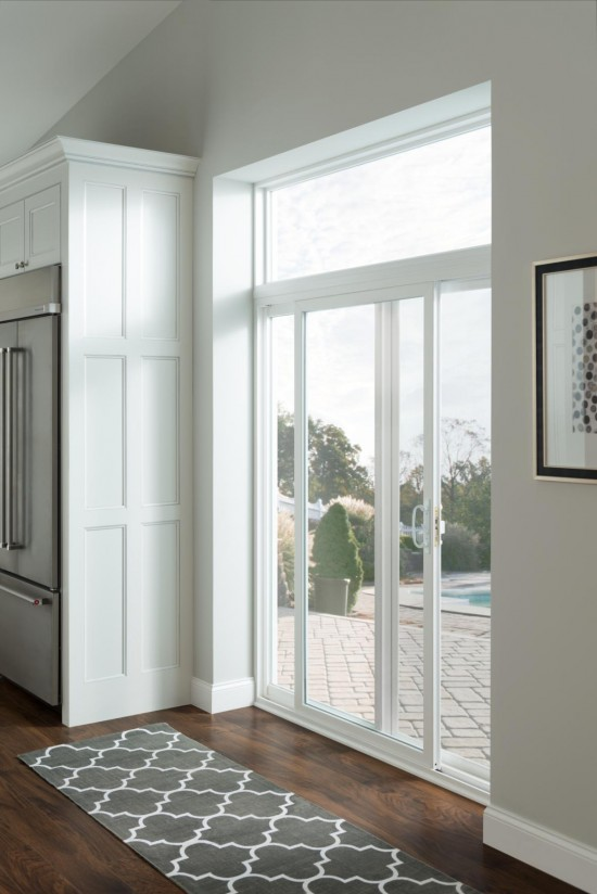 Sliding patio doors let in a ton of natural light.