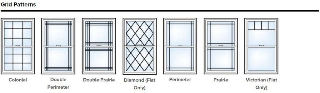 Arched window grille options.