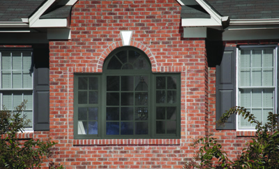 Simonton vinyl replacement half round geometric window