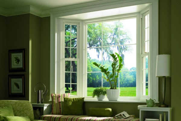 Simonton Prism Platinum Bay Window in Living Room