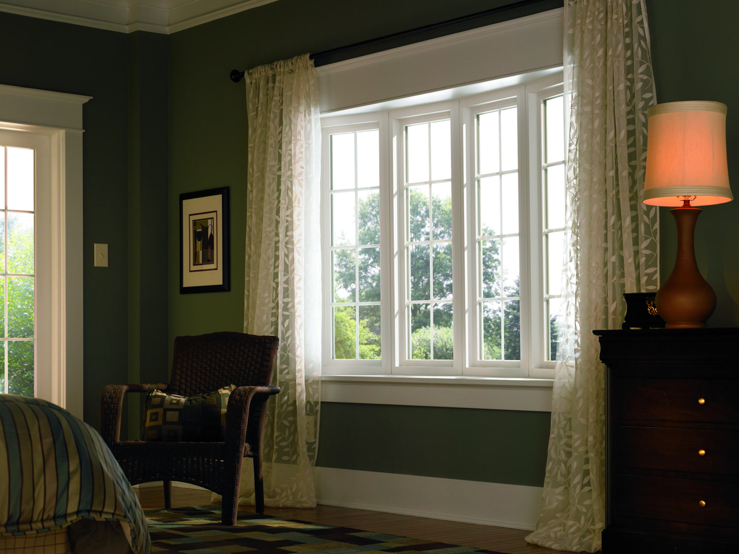 bay bow archives simonton windows doors bow window in a rich green bedroom