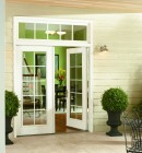 Exterior view of swing patio doors