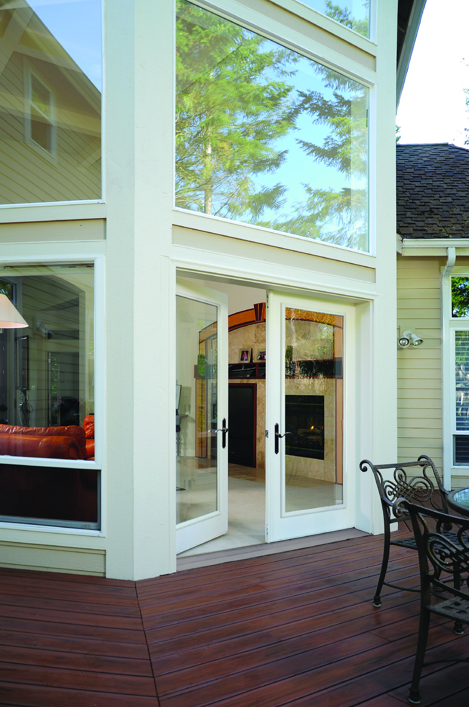 beautiful patio swinging doors leading inside from outdoor patio - Outside Patio Doors