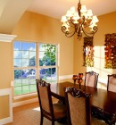 Simonton Single Hung window in formal dining room
