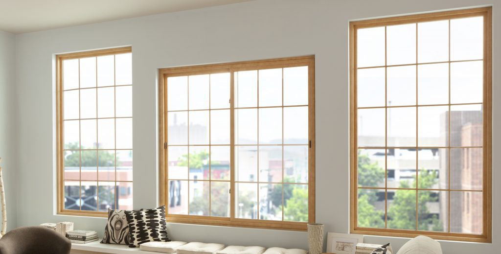 Slider windows in loft apartment